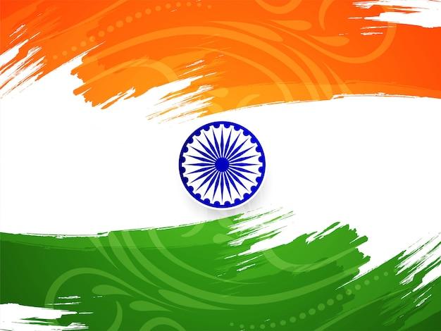 Decorative indian flag design republic day card