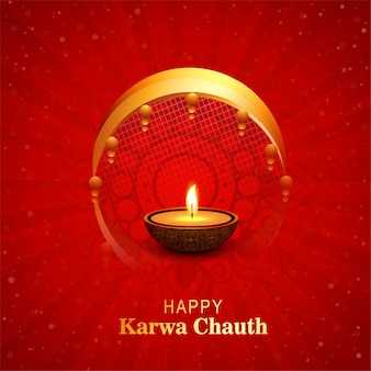 Decorative indian happy karwa chauth festival background