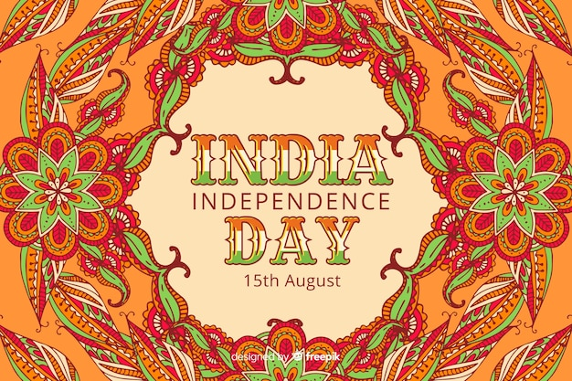 Decorative indian independence day background