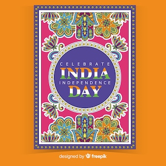 Decorative indian independence day poster