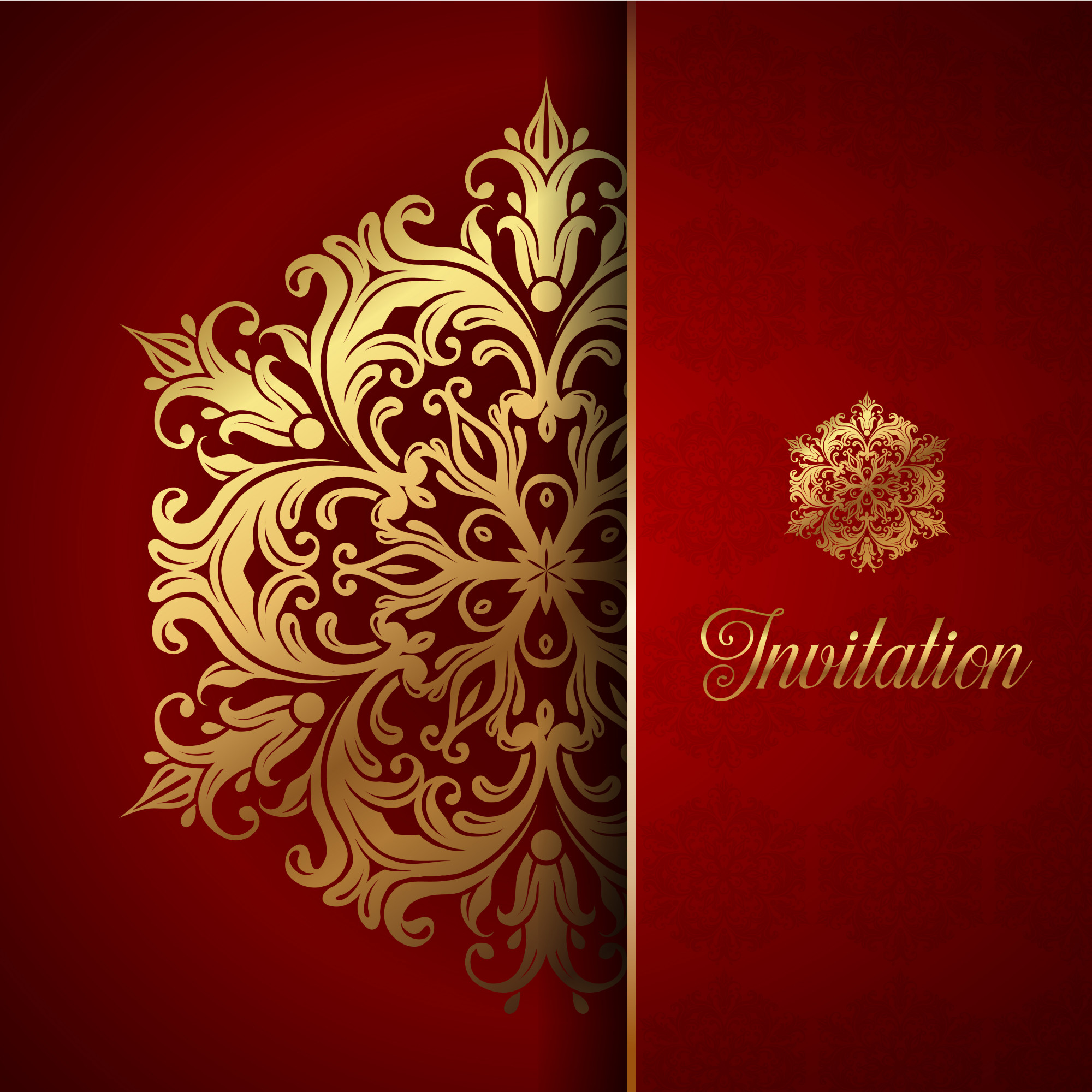 Decorative invitation background