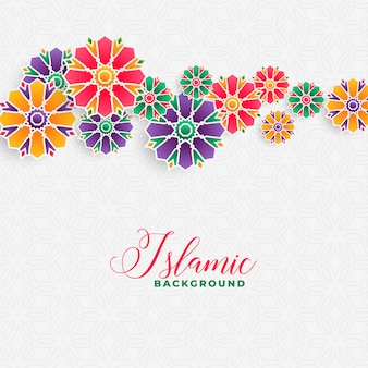 Decorative islamic background design