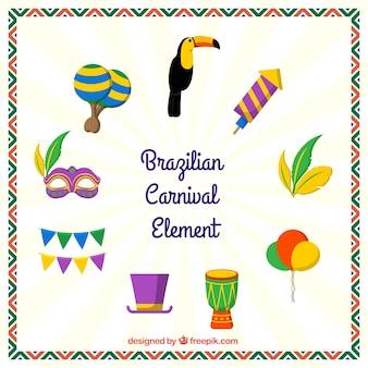 Декоративные элементы для бразильского карнавала