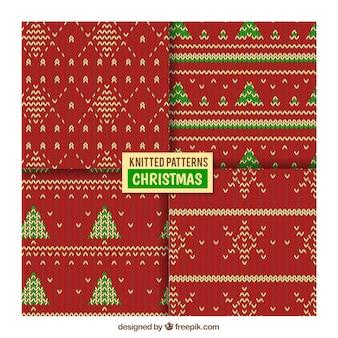 装飾ニットクリスマスパターン
