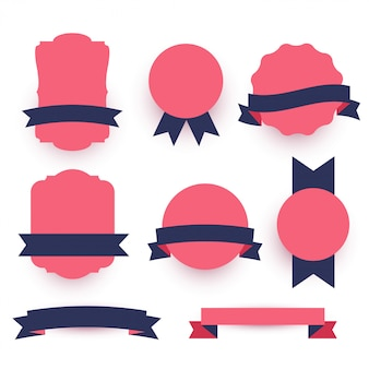 Decorative labels and ribbons pack
