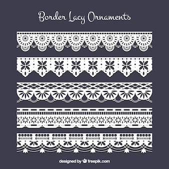 Decorative lace borders