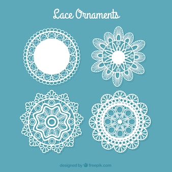 Decorative lace doilies