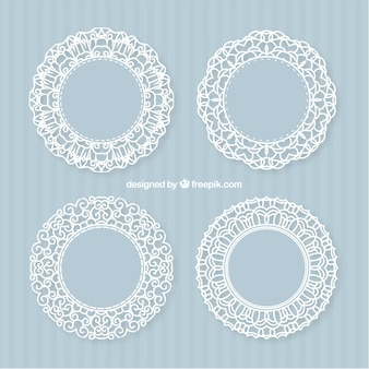 Decorative lacy frames
