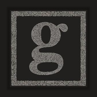 Decorative letter g monogram logo alphabet vector