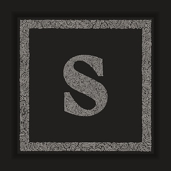 Decorative letter s monogram logo alphabet vector