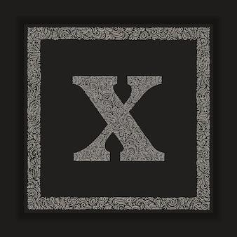 Decorative letter x monogram logo alphabet vector