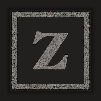 Decorative letter z monogram logo alphabet vector