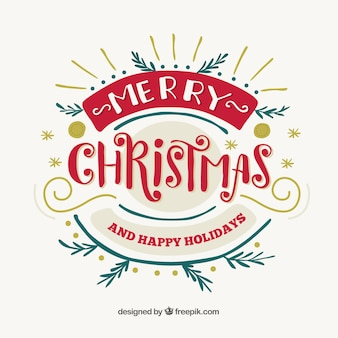 Decorative lettering of merry christmas