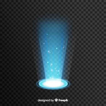 Decorative light portal effect on transparent background