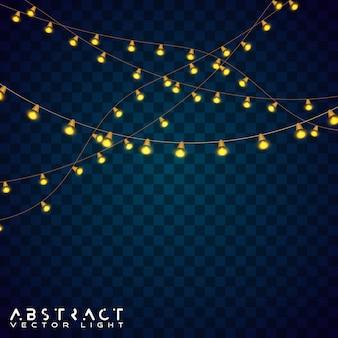 Декоративные светильники, гирлянда из ниток. рождественский свет гирлянды.