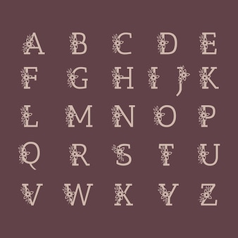 장식 럭셔리 웨딩 로고 알파벳 세트