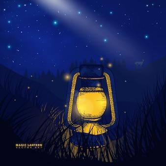 Decorative magical lantern background