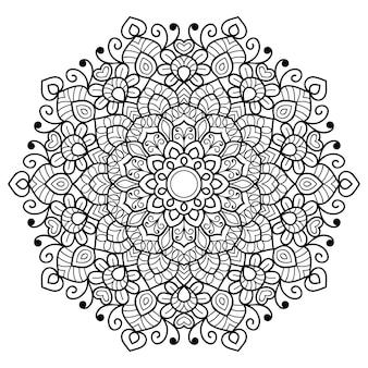 Decorative mandala colouring book page