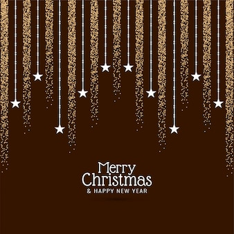 Decorative merry christmas greeting  background