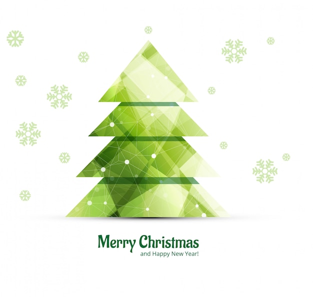 Decorative merry christmas tree background