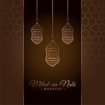 Decorative milad un nabi festival card