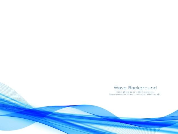 装飾的なモダンな青い波のデザイン