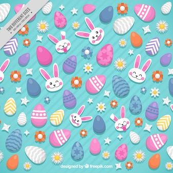 Decorative and nice background of easter elements