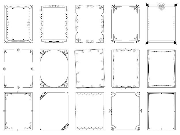 Декоративная рамка-орнамент и ажурный бордюр