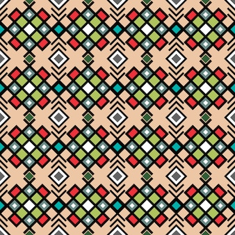 Decorative ornamental geometric pattern in vitnage colors, vector illustration