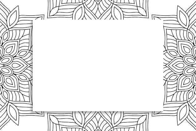Декоративный орнамент мандалы с copyspace.