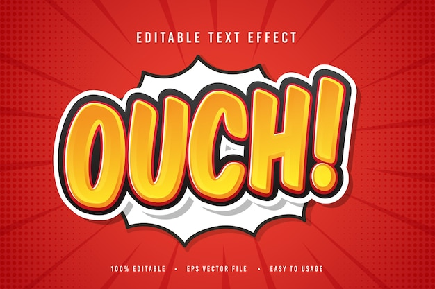 Decorative ouch font and alphabet