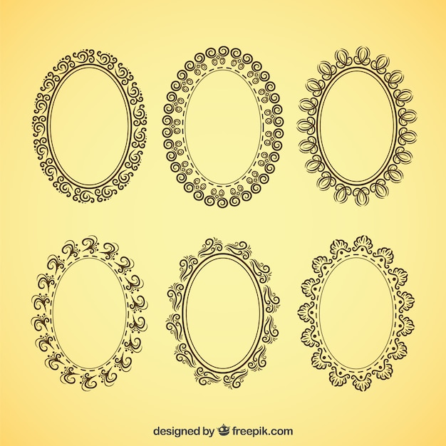 Vintage frame design oval Clip Art Decorative Oval Frames In Vintage Style Freepik Oval Vectors Photos And Psd Files Free Download