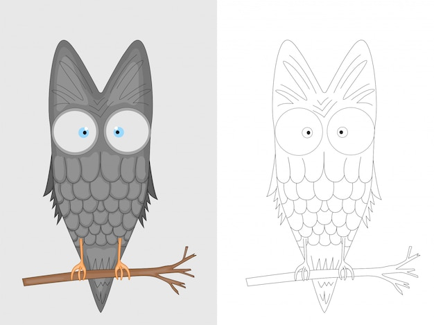 Decorative owl coloring page
