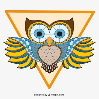Decorative owl with triangle
