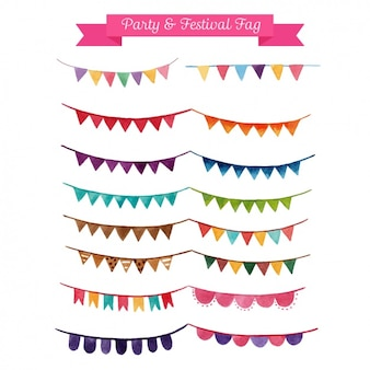 Decorative party garlands collection
