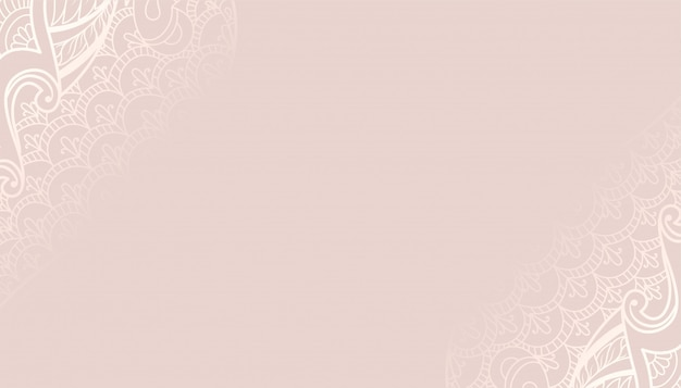 Decorative pastel color background with ethnic design
