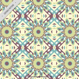Decorative pattern of abstract flowers