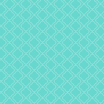 Decorative pattern background in teal colour