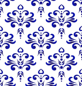 Decorative pattern blue and white