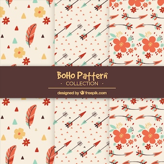 Decorative pattern in boho style