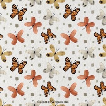 Motivo decorativo delle farfalle in stile acquerello