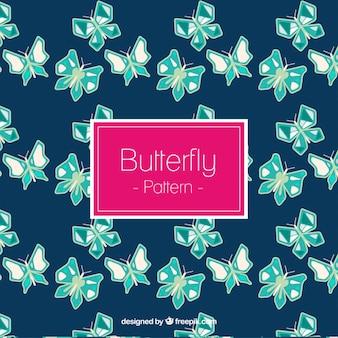 녹색 나비 장식 패턴