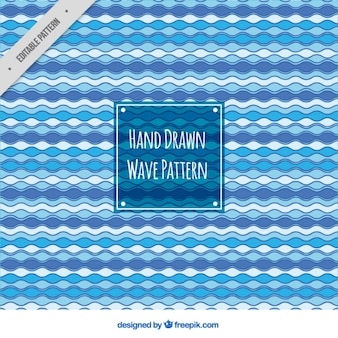 Decorative pattern of hand-drawn waves