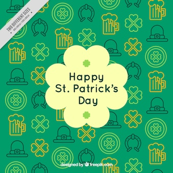 Decorative pattern of saint patrick