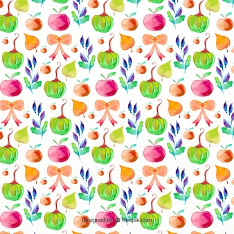 Decorative pattern with colorful elements