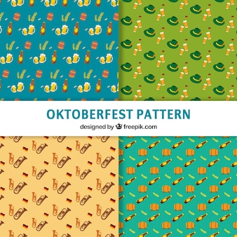 Decorative patterns of beer festival