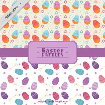 Motivi decorativi di uova di pasqua