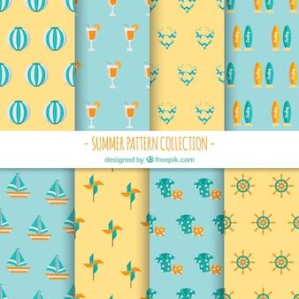 夏の要素を持つ装飾パターン