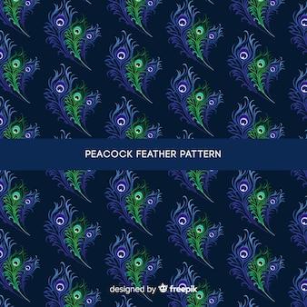 공작 공작 깃털 패턴 디자인