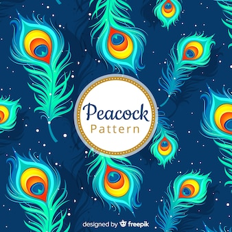 Decorative peacock feather pattern
